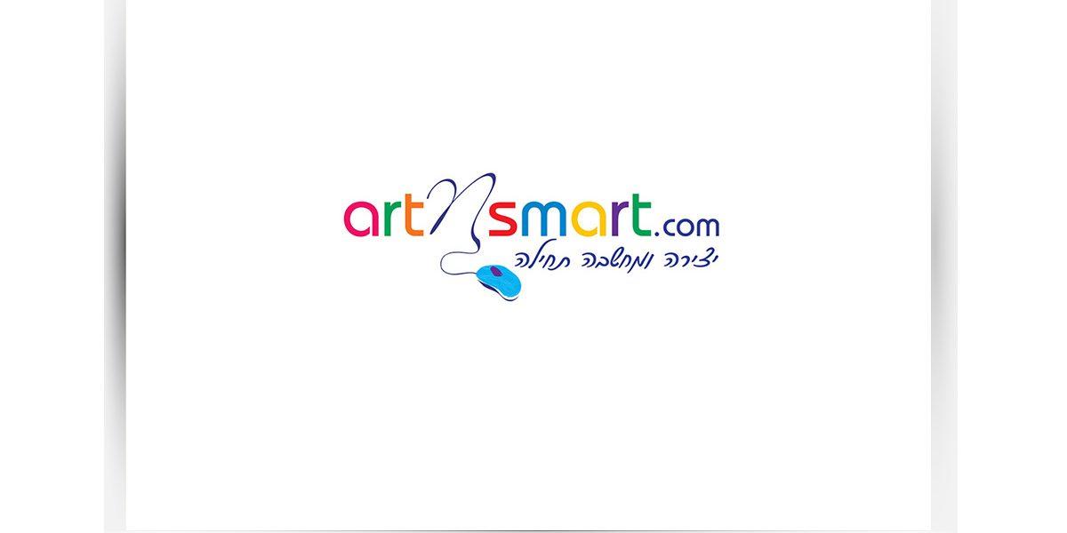 לוגו ArtNSmart לוגו לחברה שמפתחת משחקי למידה ממוחשבים לילדים